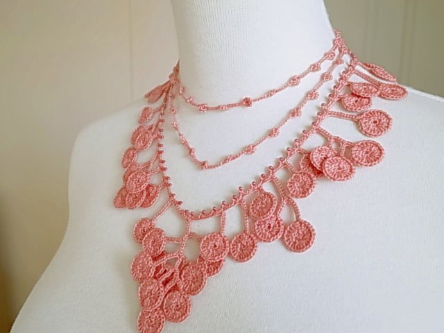 Crochet Lace Jewelry (Forest Girl II) Necklace