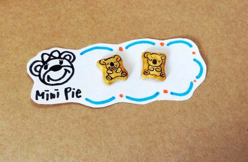 New listing ~~ ~~ mini bear biscuit earrings set (a set of 2) (which can change the ear clip-on) ((over 600 were sent mysterious little gift))
