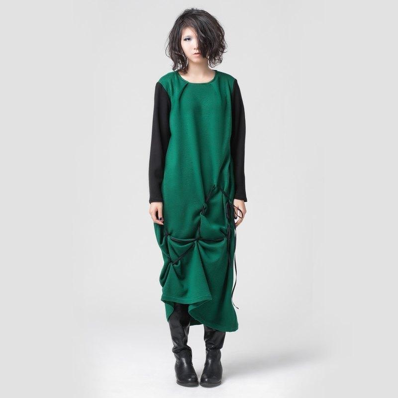 【DRESS】針織抽繩洋裝