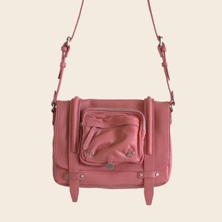► Marty S | shoulder bag ● ash red / soft sheepskin BAG