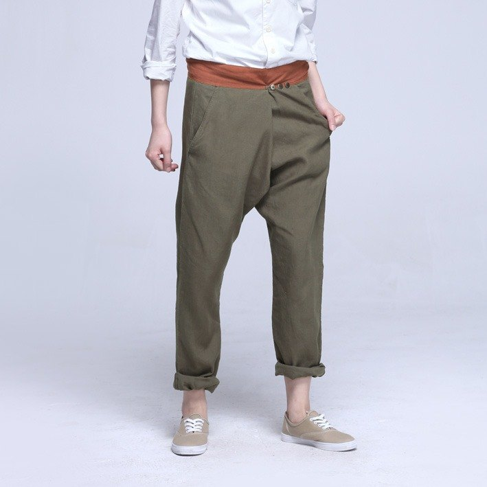 BUFU traditional Chinese-style cotton  pants  P140401