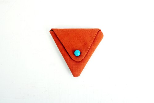 Pacman △ △ plain orange triangle wallet