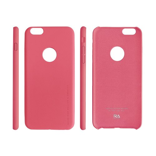 [Rolling Ave.] Ultra Slim iphone 6s plus / 6 plus feel leather jacket - Fashion Pink
