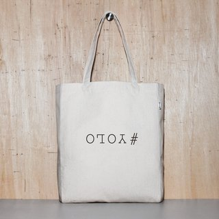 Only live once #YOLO 2 color optional original canvas tote bag - 4 sizes