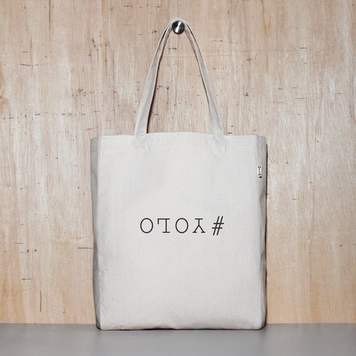 Only live once #YOLO 2 color optional original canvas tote - 2 sizes