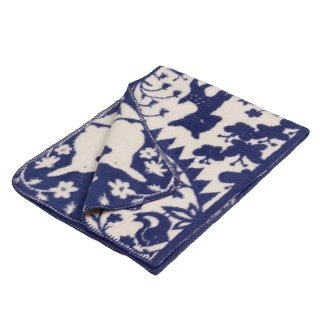 Fabulous Goose ultra-soft bristles blanket organic cotton Series - Fairy Tale Forest (Blue)