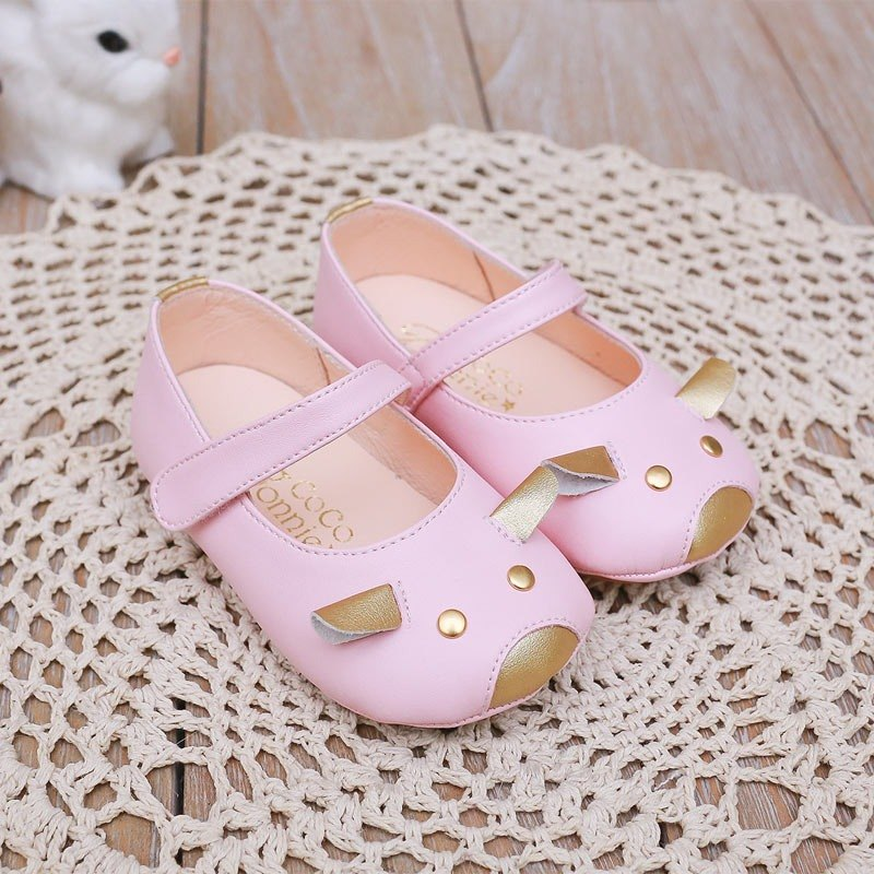 AliyBonnie children's shoes children's play animal leather inside the baby shoes - sugar cream powder on the 13th