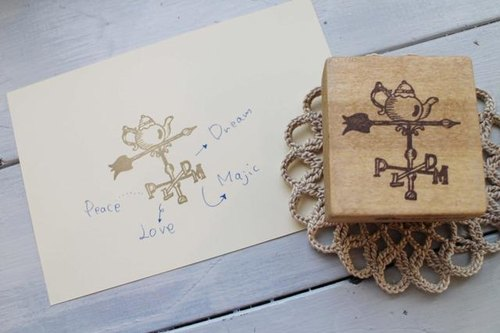 [Resale] Happy weathervane pot stamp