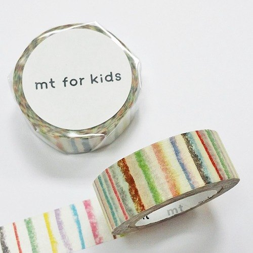 mt and paper tape KIDS 【crayon lines (MT01KID019)】