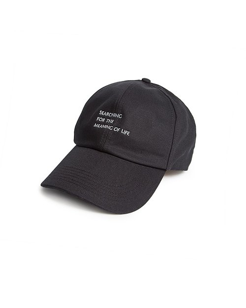 Recovery 'SFTMOL' text embroidered ball cap (black)