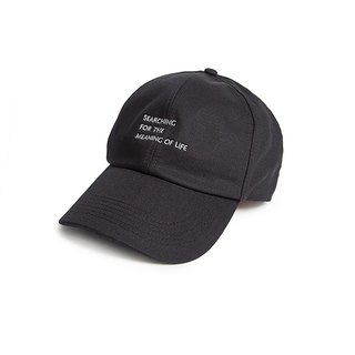Recovery SFTMOL Text Embroidered Ball Cap (Black)