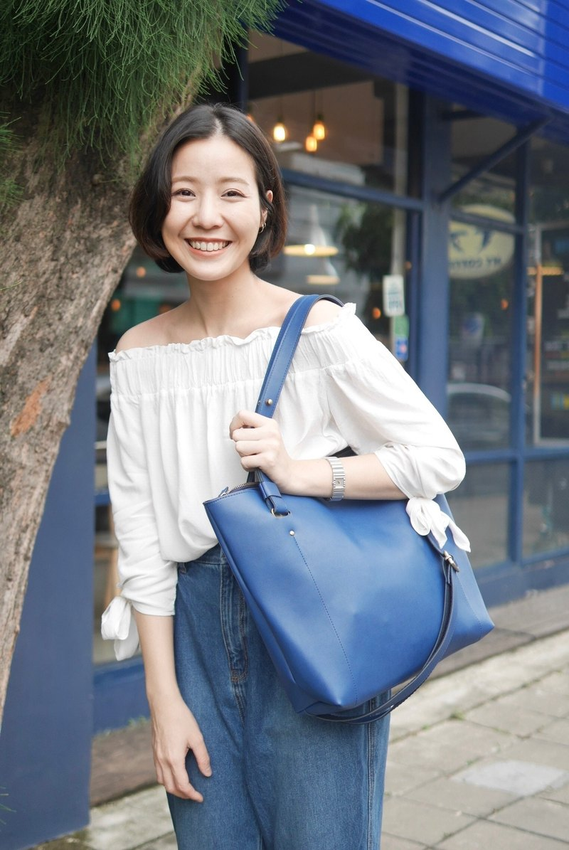 KARRIE CROSSBODY&SHOULDER BAG (BLUE)