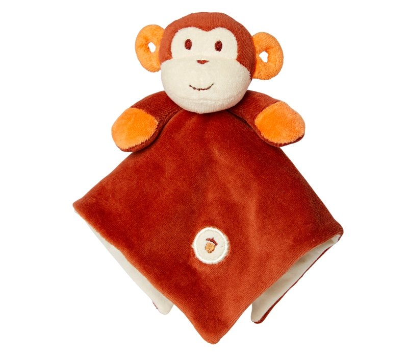 US MyNatural Lovie Blankie natural cotton appease towel - brown monkey