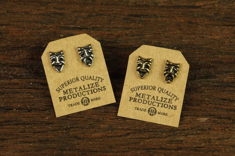 "【METALIZE】""Comedy and Tradedy Mask"" Earrings"