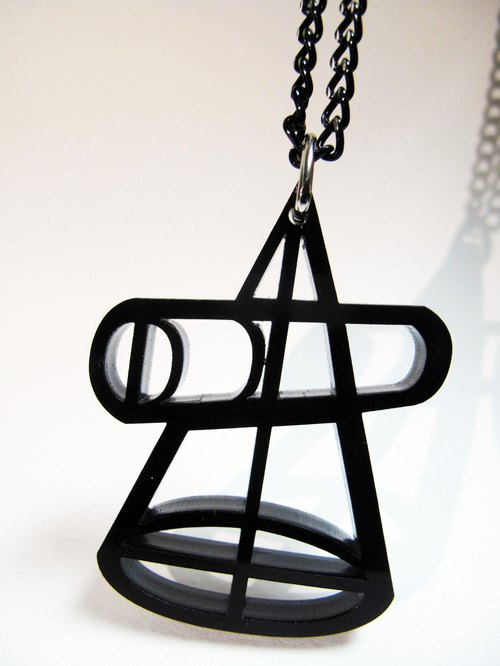 Lectra duck ☼ perspective through formula cone (geometric series) ☼ necklace / keychain