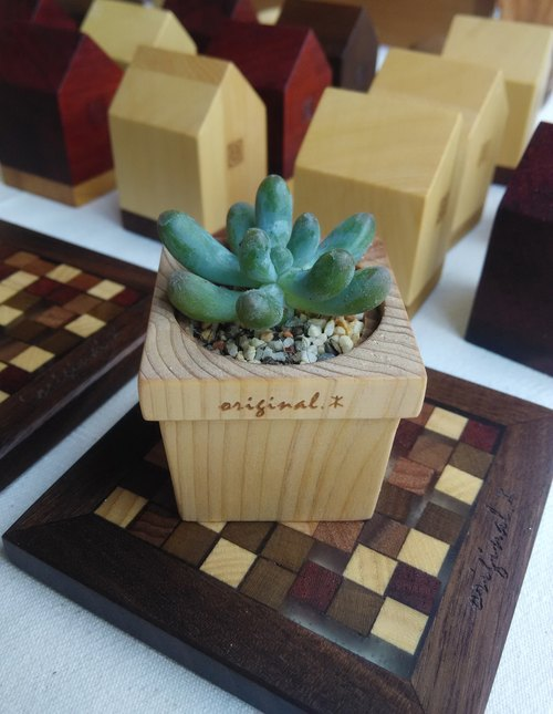 【Original. Wood】 forest series _ mini wood potted plants (※ does not contain plants)