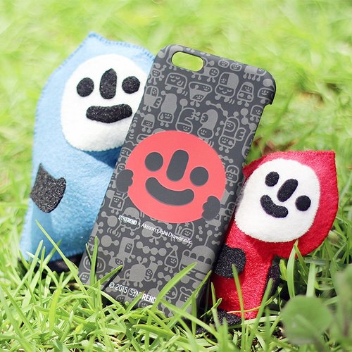 iPhone 6 / 6s Plus Mobile Shell 5.5 inch [! GO Smiling smiling departure - hey] Black Christmas
