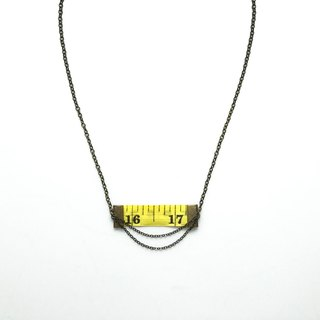 Inch Necklace| Tape measure Necklace | Yellow