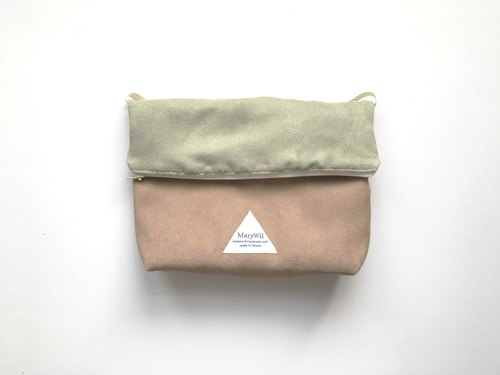MaryWil Colorful Shoulder Bag-Grey Green/Khaki