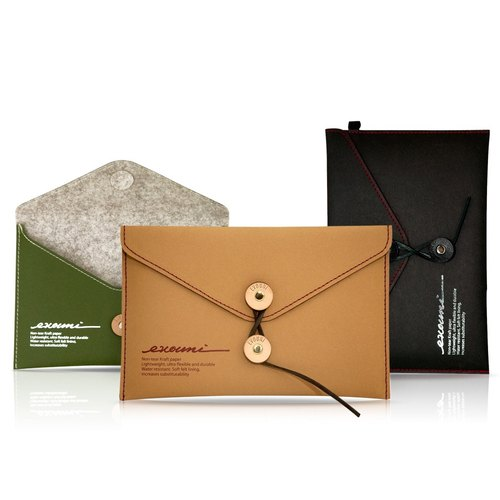 evouni fiber - Tablet PC Envelopes jacket / Case (olive green) 7-inch or less flat / iPad mini