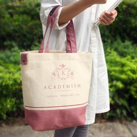 Ultrahard academism college style Tote series – pink