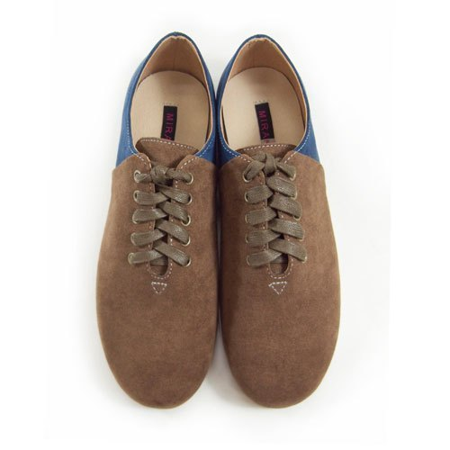 Two Tone Lace-up Shoes M1105A BrownNavy