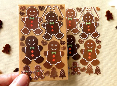 38mm High Gingerbread Man Stickers