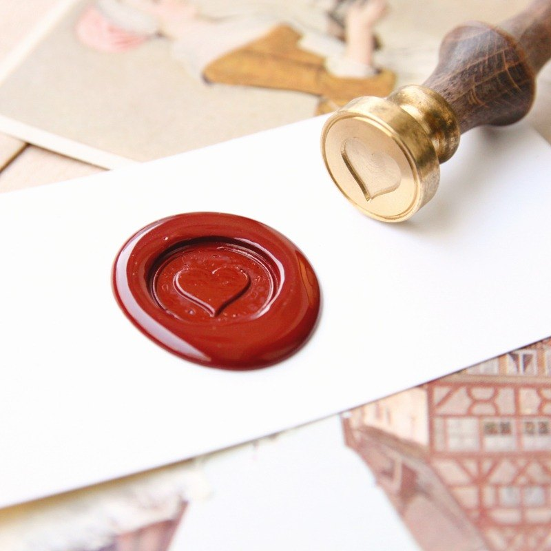 Sealing Wax Stamp Set w/a wax- Heart