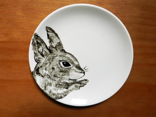 Forest junior partner series Finger Rabbit Rabbit Dish 18cm dessert dish finger