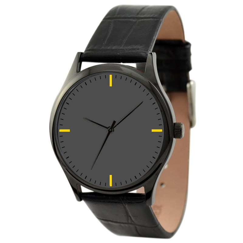 Simple Black Watch (yellow)