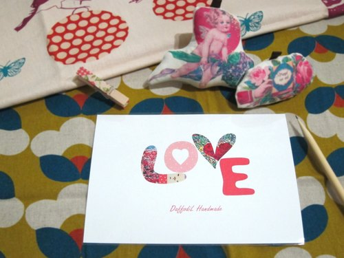 [LoVE] Valentine postcard (with wooden clip)
