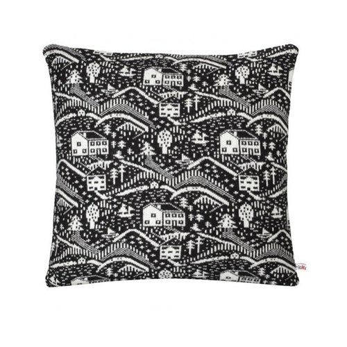 Log Cabin pure wool pillow - black | Donna Wilson