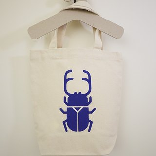 Stag beetles canvas bag - in