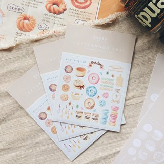 Afternoon tea illustration stickers deck / Sweets / Biscuits