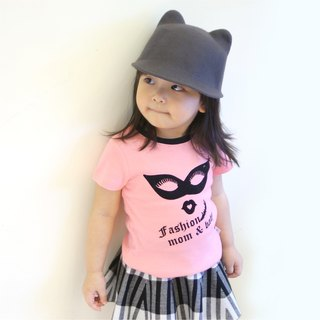 PUREST Eye Mask Short Sleeve T-Shirt [100% made in Taiwan ‧] pink