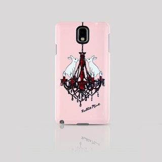 (Rabbit Mint) Mint Rabbit Phone Case - Pink Chandelier Rabbit Series - Samsung Note 3 (P00059)