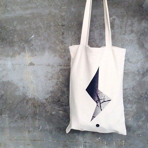 Lightning / tote bag / canvas bag /