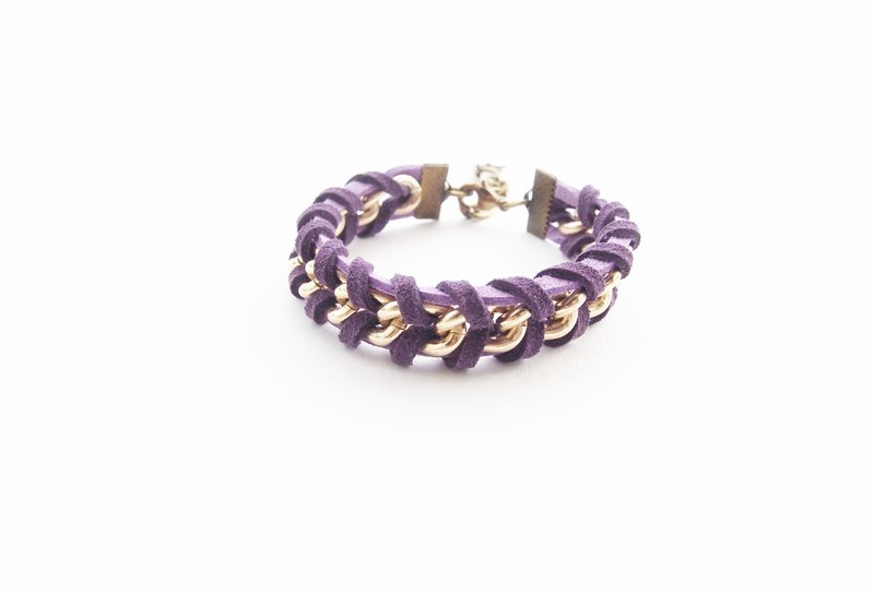 Suede cord bracelet - purple bracelet - arm party - chain bracelet - faux leather cord bracelet - cord bracelet.