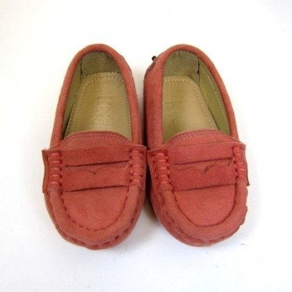 Fort Tony Wang matte leather handmade shoes kids [/ bean bottom / pink]