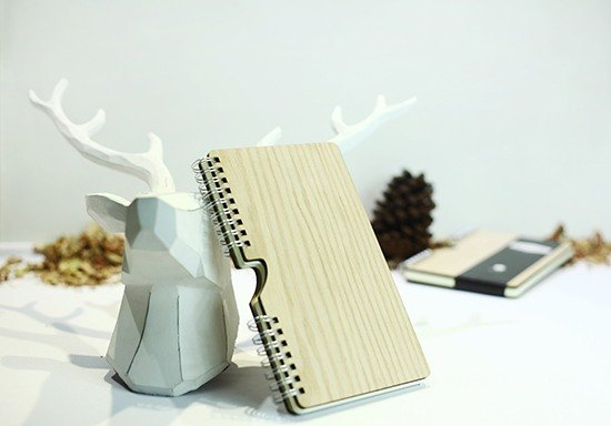 [hylé design Macau] HOLD-IT wood cover notebook (special limited)