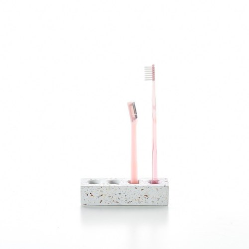 Terrazzo Bath Accessory Series_Toothbrush Holder