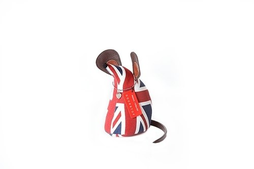 Mouse animal shape paperweight - British flag