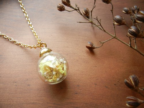 * Coucoubird * Fantasy glass ball long chain - Yellow / Limited