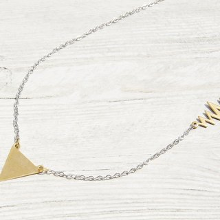 Valentine's Day / minimalist sense / English trigonometry brass necklace - heartbeat feeling