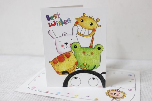 Illustration big card _ birthday card / million card (Five Treasure Stack)