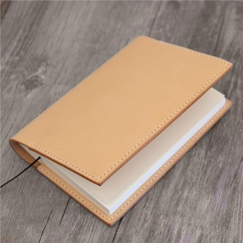 Hand vegetable-tanned cowhide leather notebook