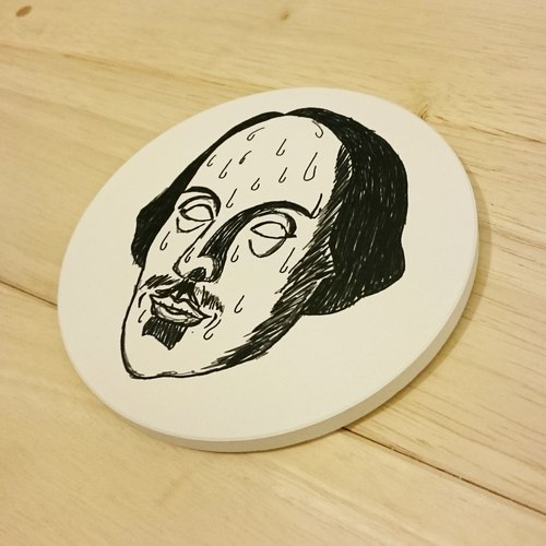 [Mr. Shakespeare cold sweat] Ceramic absorbent coasters