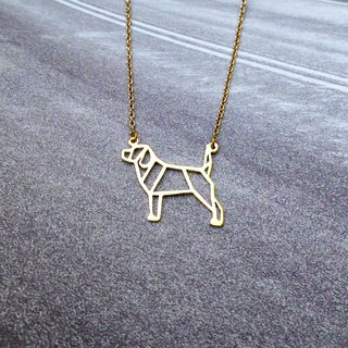 Beagle, Origami, Dog Necklace, Pet Jewelry, Dog mom, Dog rescue, Dog lover gifts