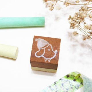 [Stock goods] handmade rubber stamp - living imprint (P)