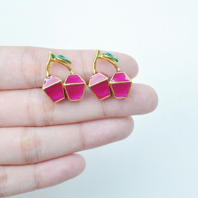 Glorikami Purple Cherry earrings